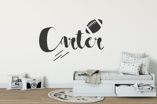 Boys Name American Football Wall Sticker