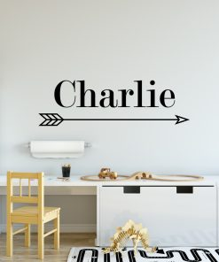 Boys Name Arrow Wall Sticker