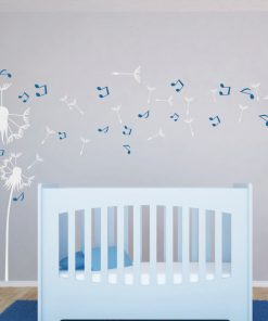 dandelion music note wall sticker