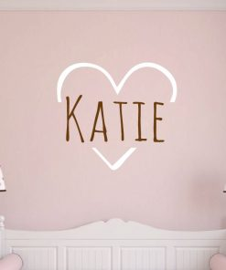 Love Heart Name Wall Sticker