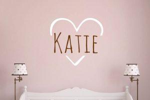 Love Heart Name Wall Sticker