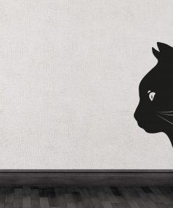 Peeking Cat Wall Sticker