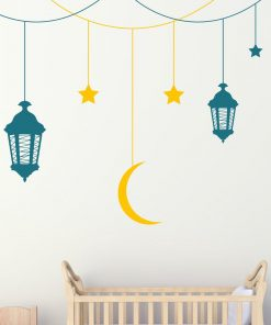 Starry Sky Hanging Lanterns Wall Sticker