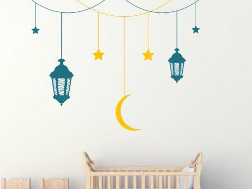 Starry Sky Hanging Lanterns Wall Sticker