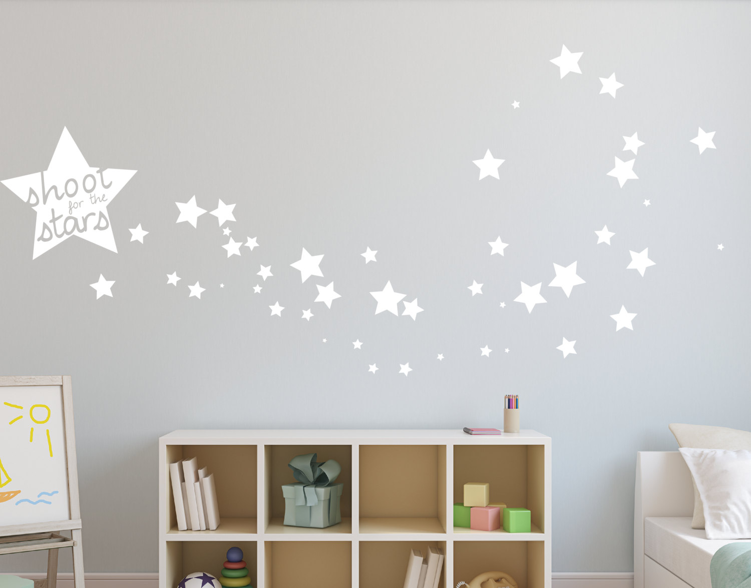 Merveilleux Shoot For The Stars Wall Sticker