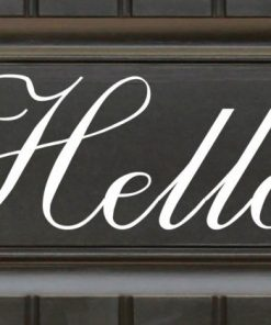 script hello door sticker