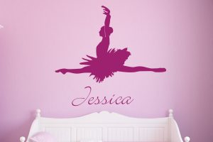 Personalised Name Ballerina Wall Sticker
