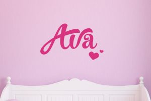 Heart Girls Name Wall Sticker