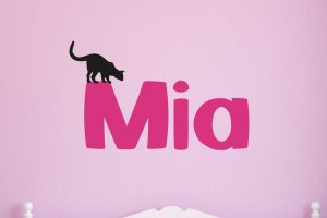 Cat Name Wall Sticker