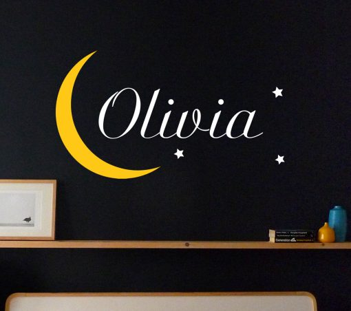 Name with Moon and Stars wall sticker