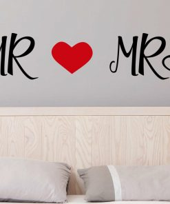 Mr and Mrs Wall Stickers - His and Her Wall Stickers - Bedroom Wall Stickers
