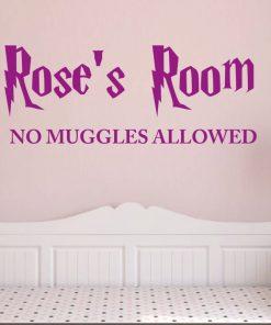 No Muggles Allowed Wall Sticker