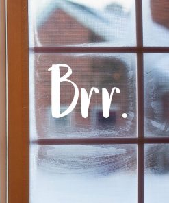 Brr Christmas Window Sticker