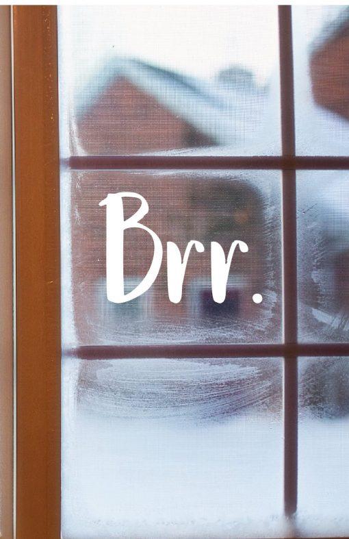 Brr Christmas Window Sticker