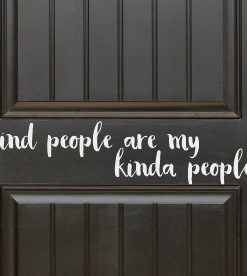 kind people bumper sticker
