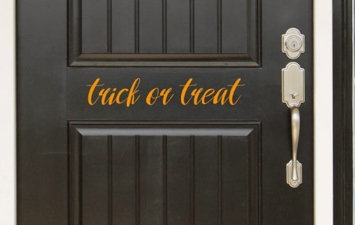 trick or treat door sticker
