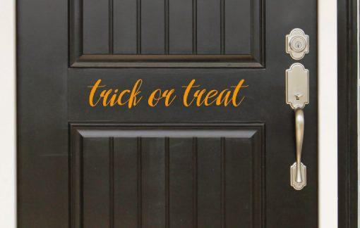trick or treat door sticker