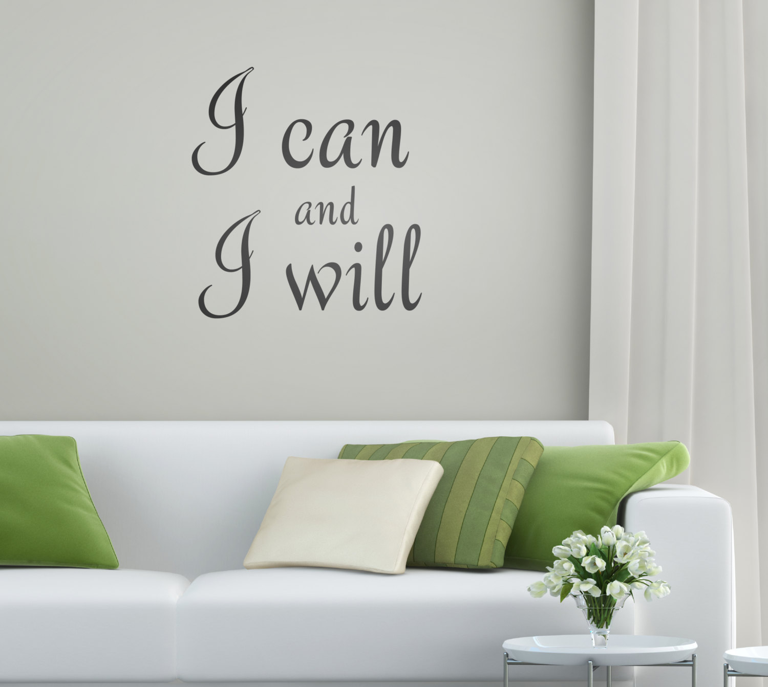 I Can and I Will Motivational Wall Sticker - Quotes and Words Wall ...