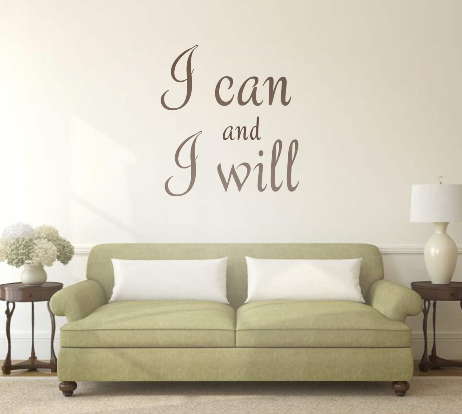 I Can And I Will Motivational Wall Sticker Quotes And Words Wall
