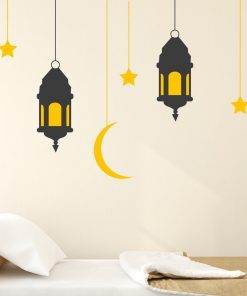 Hanging Lanterns With Stars And Moon Wall Sticker