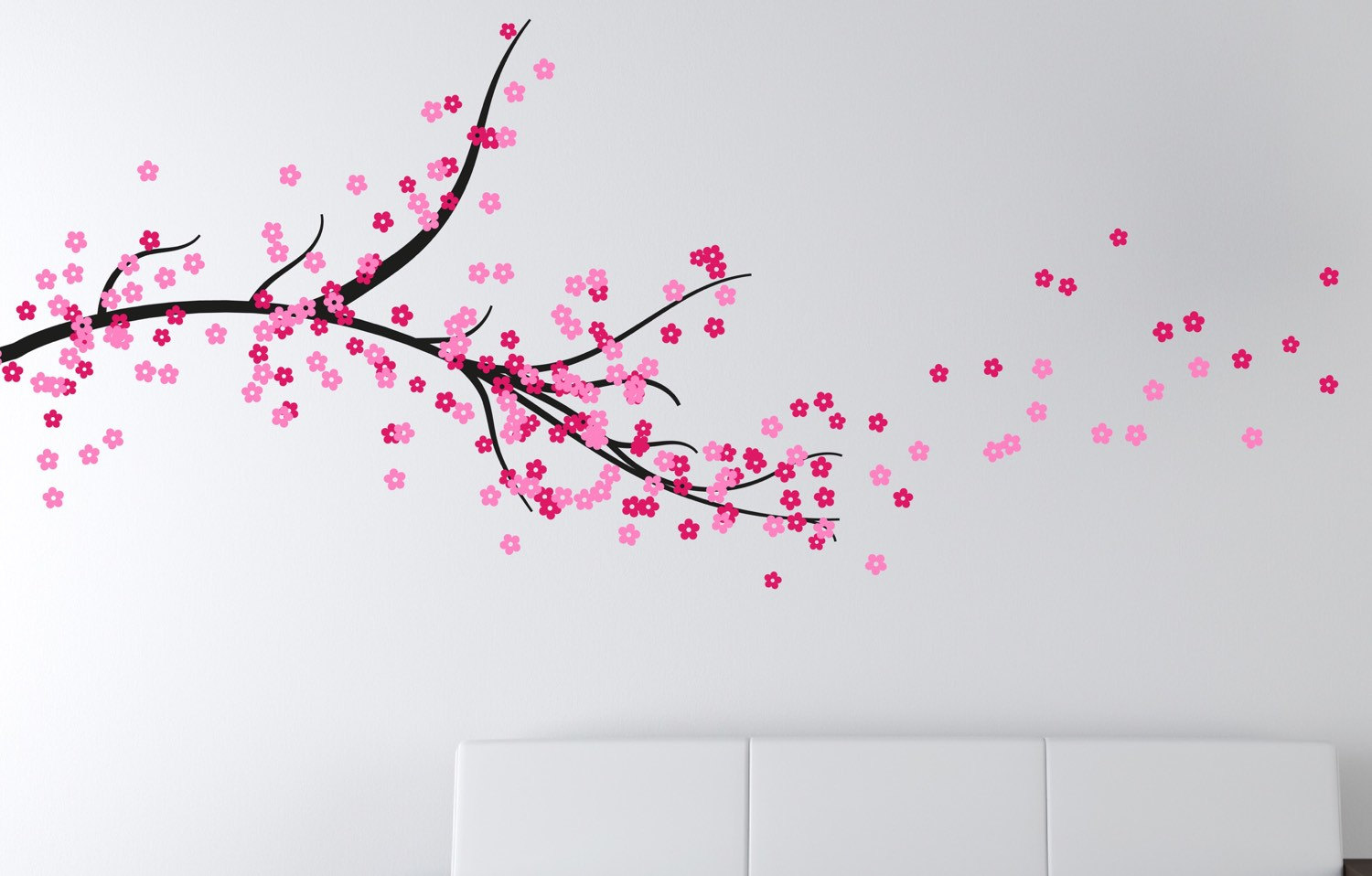 Nusery Wall Stickers Cherry Blossom Tree Branch Stunning Wall Designs And
