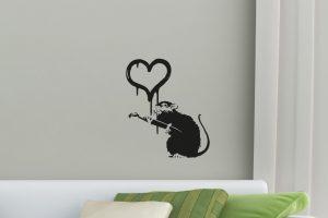 Banksy Love Rat Wall Sticker