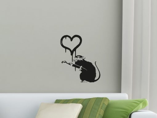 Banksy Love Rat Wall Sticker