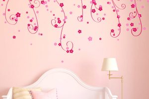 hanging flowers wall sticker