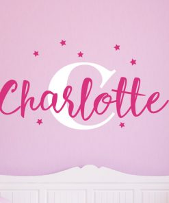 Girls Name with Stars Wall Sticker