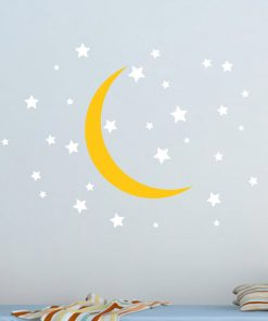 Moon and Stars Nursery Wall Sticker