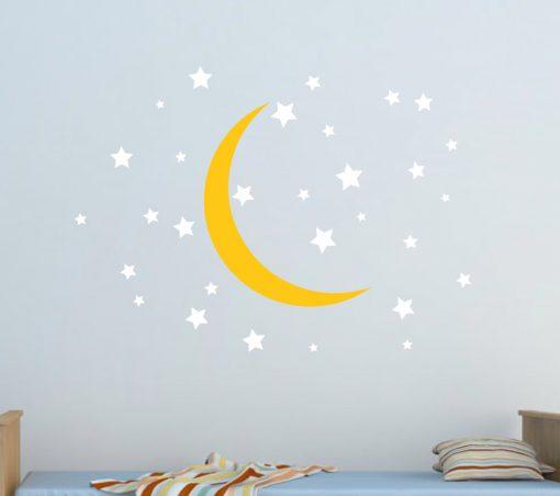 Moon and Stars Nursery Wall Sticker
