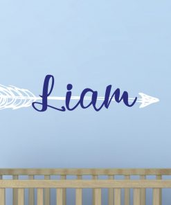Large Arrow Boys Name Wall Sticker