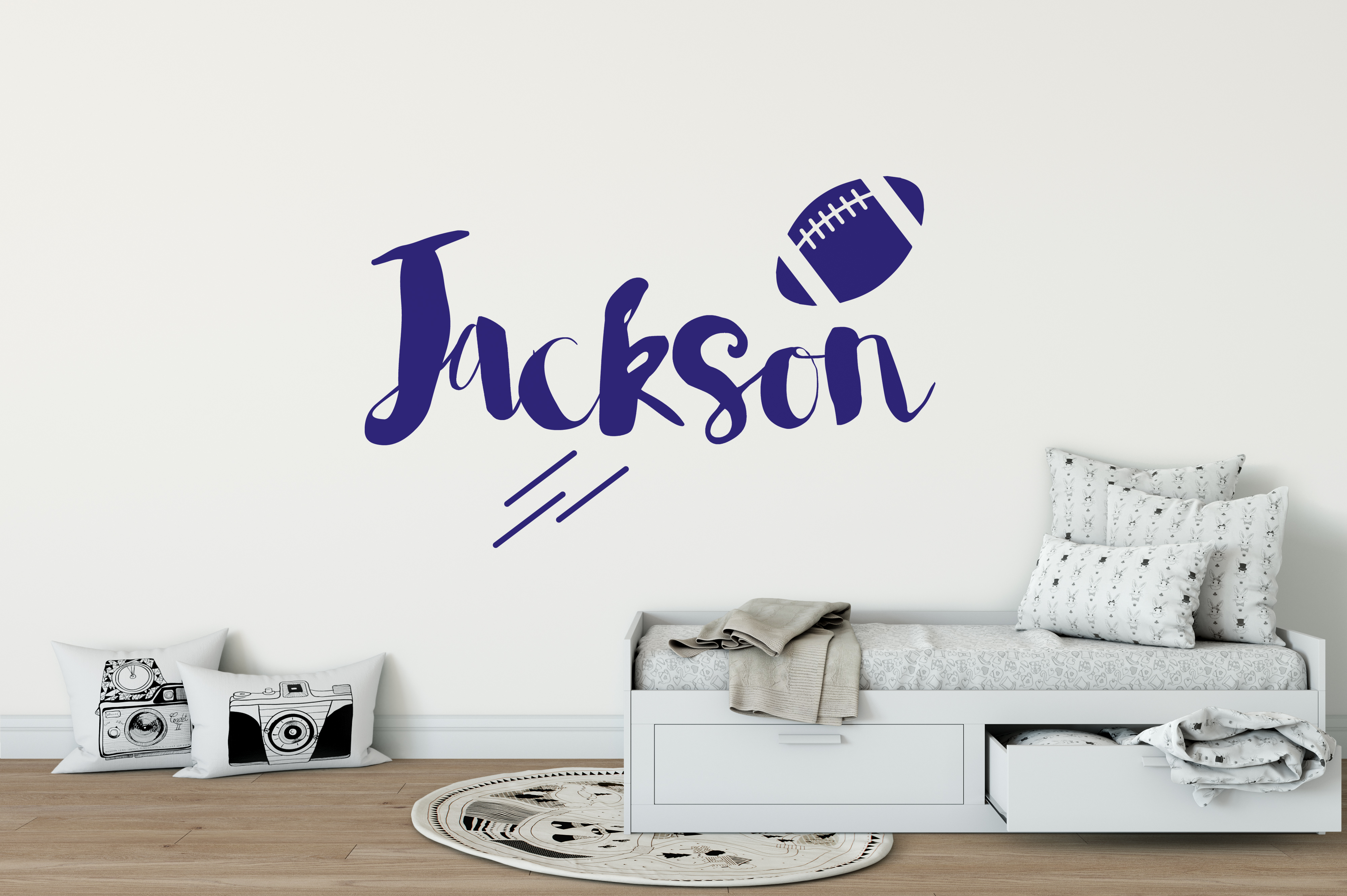 Boys name american football wall sticker american football wall boys name american football wall sticker amipublicfo Images