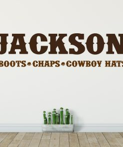 Cowboy Name Wall Sticker