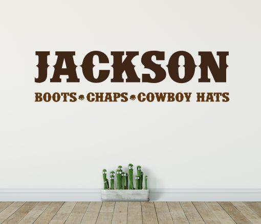 Cowboy Name Wall Sticker