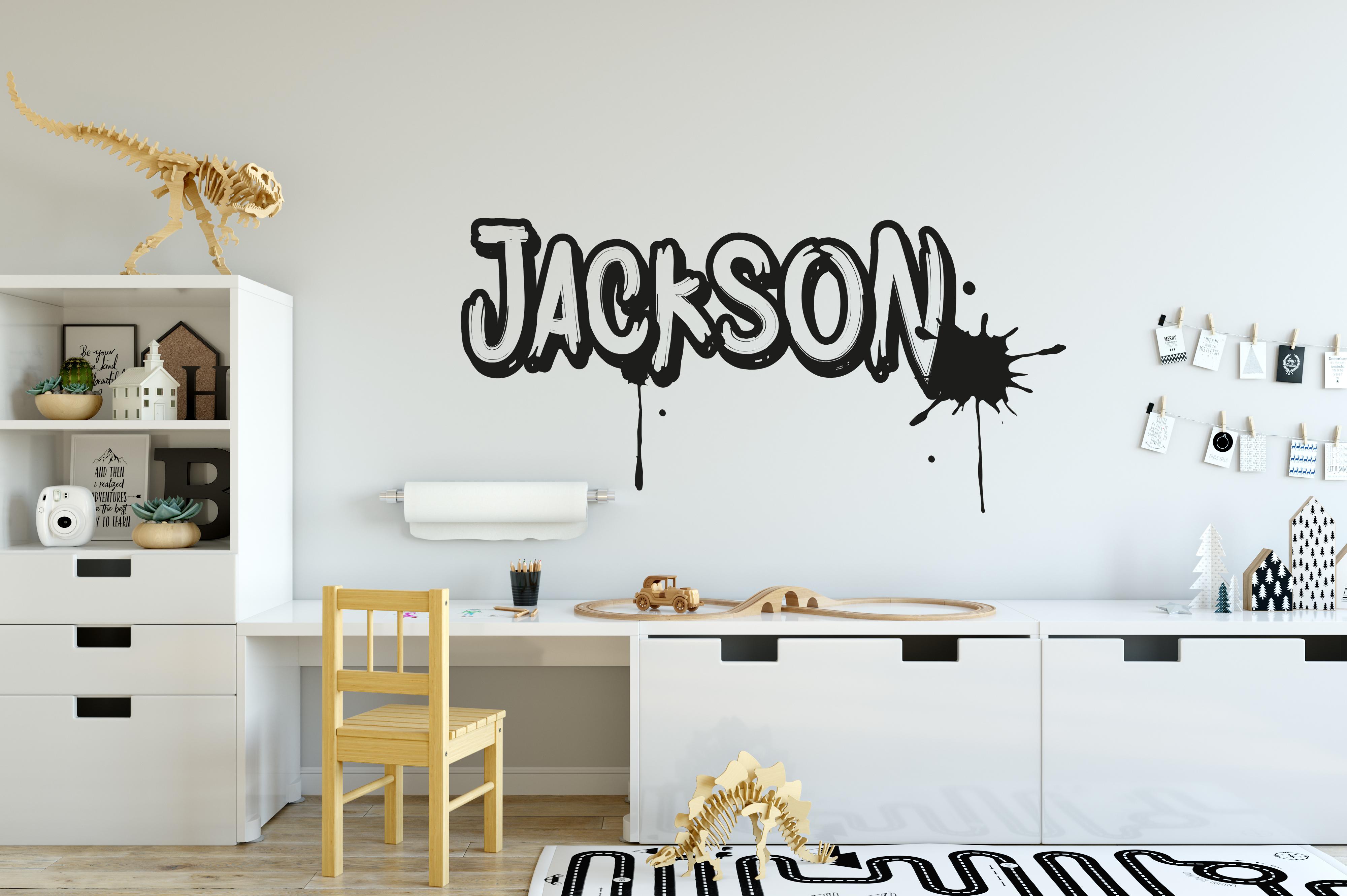 Graffiti name wall sticker