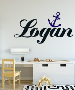 boys name anchor wall sticker