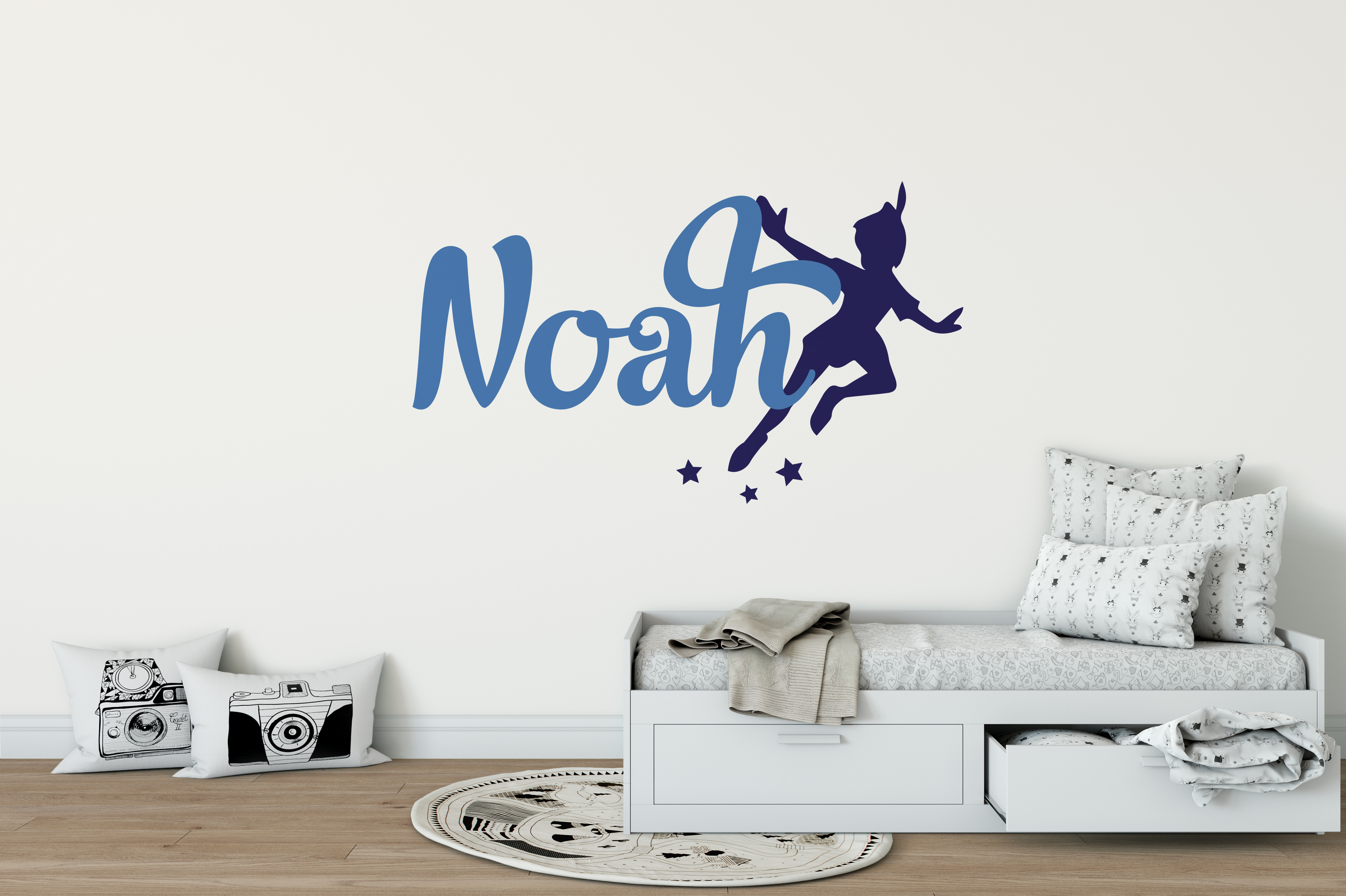 Peter Pan Boys Name Wall Sticker | Boys Name Wall Stickers