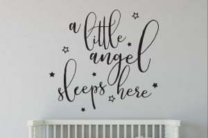 a little angel wall sticker