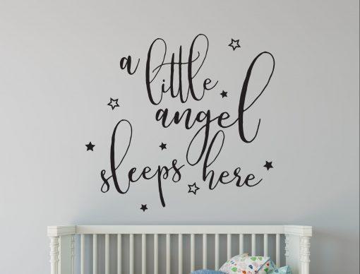 a little angel wall sticker