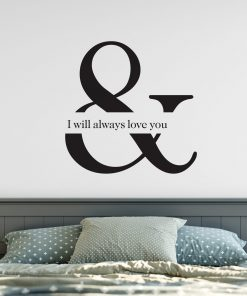 ampersand music wall sticker