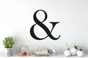 Ampersand Letter Wall Sticker