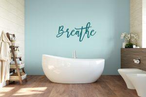 Breathe Bathroom Wall Sticker