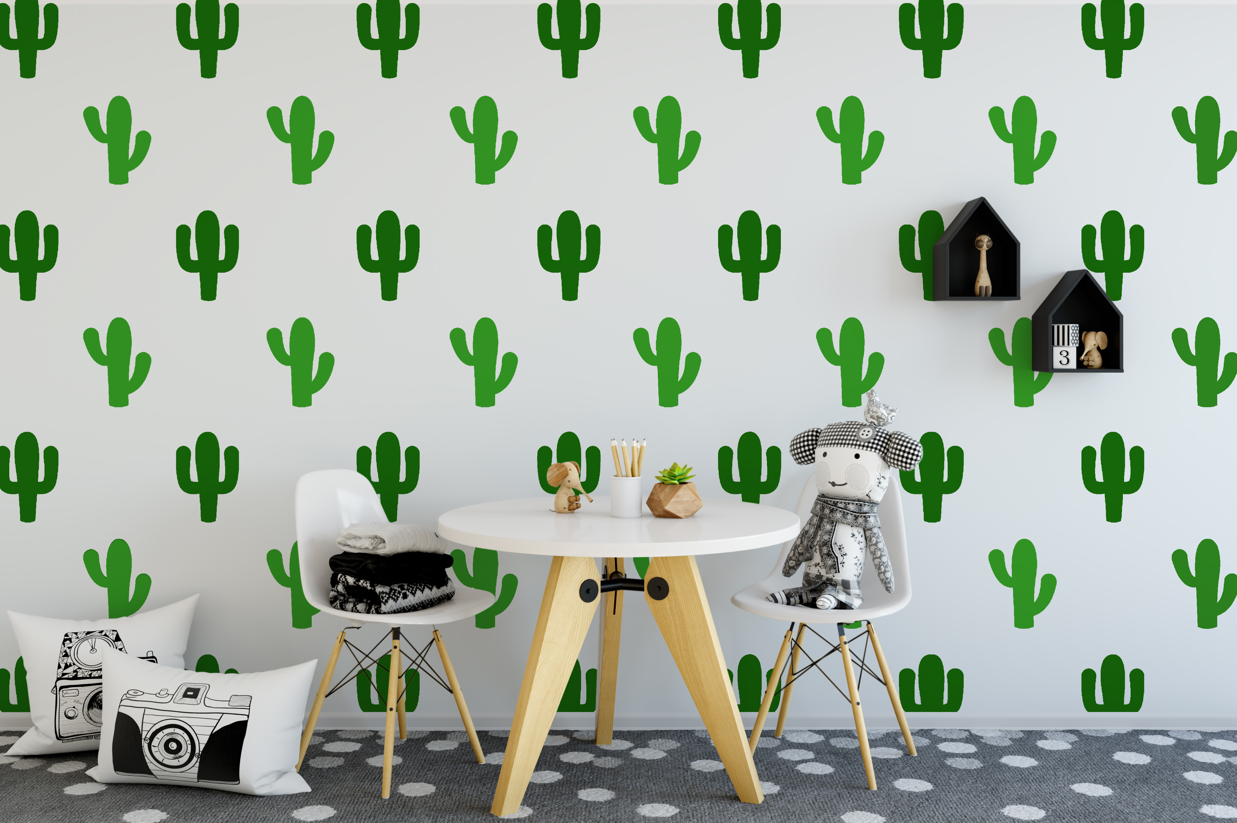 Cactus Wall Stickers Tropical Wall Stickers Pattern Wall Stickers