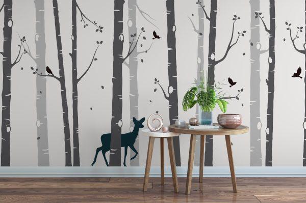 Grey Tree Wall Sticker