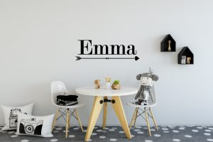 Girls Name Arrow Wall Sticker