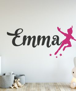Peter Pan Girls Name Wall Sticker
