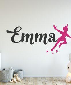 Peter Pan Girls Name Wall Sticker