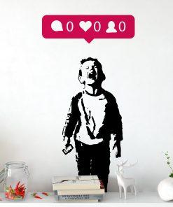 iHeart Nobody Likes Me Wall Sticker