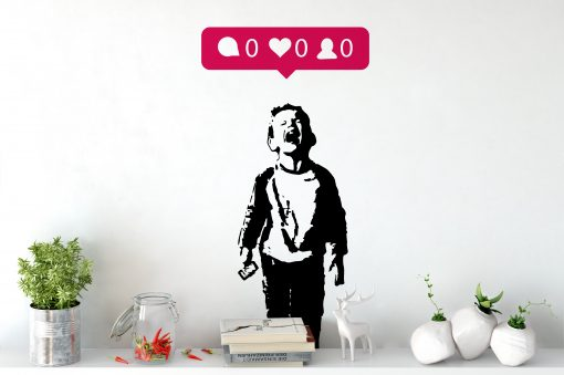 iHeart Nobody Likes Me Wall Sticker